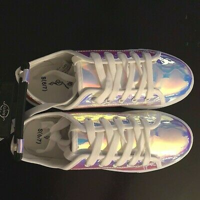 Super Dope HOLOGRAPHIC Womens Sneakers BRAND NEW! CUTE FUN & UNIQUE Party Shoes!
