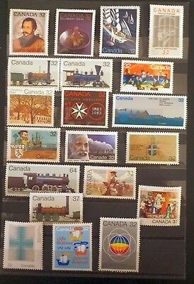 CANADA 1983-1984  NICE LOT of 20 different  COMMEMORATIVE stamps MNH unused # U1