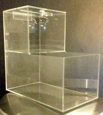 5 New Locking Acrylic Honor Candy Selling Donation Box. Vending Route Business!