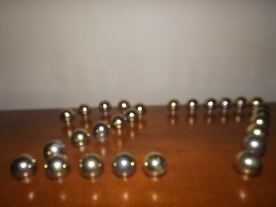 Lot Of 27 Vintage Brass Round Ball Cabinet Knobs Drawer Pulls
