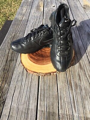 timeless design 33b0c 03012 Mens Nike Shox Deliver All Black Leather EUC Size 13 RARE