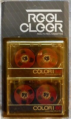 Reel Cleer Reel-To-Reel (Red) Cassette Color-I C60 (2 Tapes In One Package)
