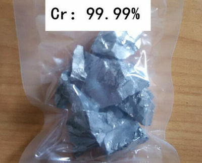 99.99% Chromium Cr Metal Lumps Vacuum packing 10 grams High Purity