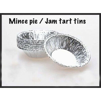 Small Foil Pie Dishes Christmas Mince Tarts Cases Pies Patty Pans Tins Round