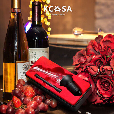 KCASA Instant Red Wine Aerator Quick Wine Spout Bottle Pourer Aerating  NEW