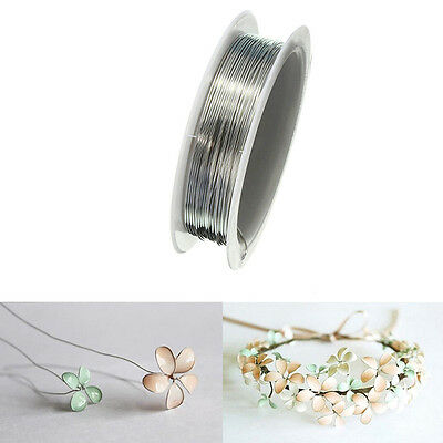 1 Reel 0.6mm*4m Sliver Copper Wire Making Beading Jewelry Tiara Wrapping Craft