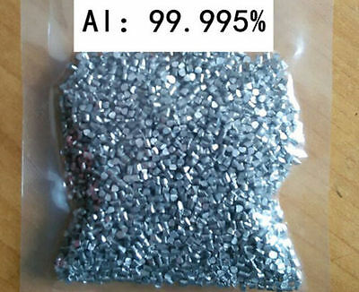 50 grams High Purity 99.995% Aluminum Al Metal Lumps Vacuum packing