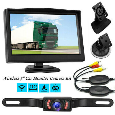 5 inch 800*480 TFT LCD HD Screen Monitor W/ Car Rear View Reverse Backup Camera