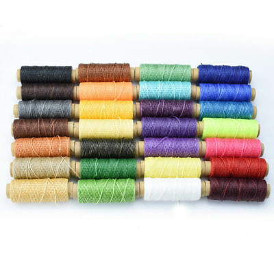 50M 150D Leather Sewing Flat Waxed Thread Wax String Hand Stitching Craft 1mm
