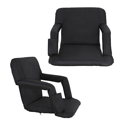 2 PCS Stadium Seat Padded Chair for Bleachers with Back& Arm Rest 5 Positions