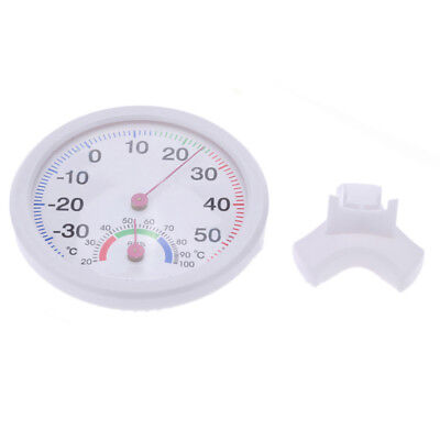 Mini Indoor Analog Temperature Humidity Meter Thermometer Hygrometer Round UK
