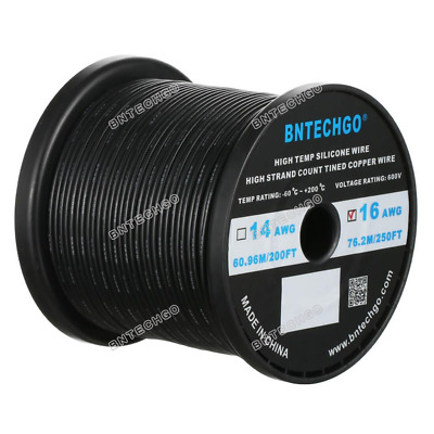 BNTECHGO 20 Gauge Silicone Wire Kit Ultra Flexible 7 Color High Resistant 200 deg C 600V Silicone Rubber Insulation 20 AWG Silicone Wire 100 Strands of Tinned Copper Wire Stranded Wire Battery Cable