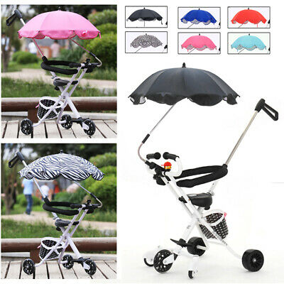 Kids Tricycle Bike Stroller Pushchair Buggy Sun Umbrella Parasol Canopy Cover UK