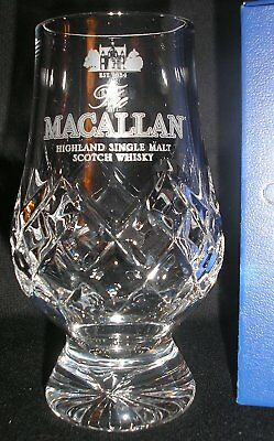 Macallan Glencairn Cut Crystal Scotch Malt Whisky Tasting Glass