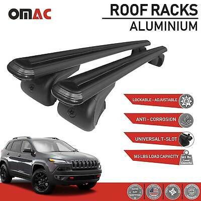 Roof Racks Cross Bar Carrier Rails Roof Black with TUV for JEEP CHEROKEE 2014-