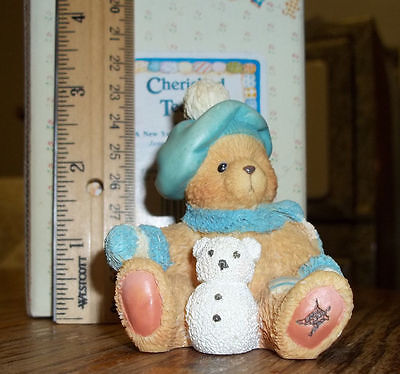 """1993 Cherished Teddies Monthly Bear Collection """"Jack"""" January Snowman w/ BOX"""