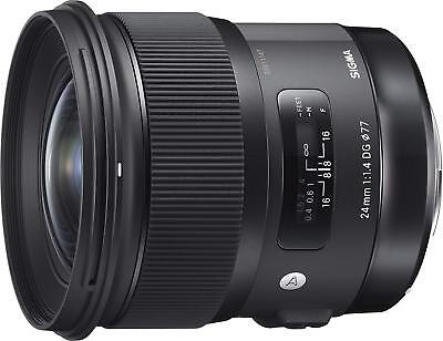 Sigma 24mm f/1.4 DG HSM Art Lens for Canon EF.  U.S. Authorized Dealer