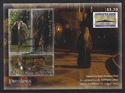 New Zealand 2002 Northpex Exhibition  Lord Of The Rings Ms Exhibition Cancel Fu