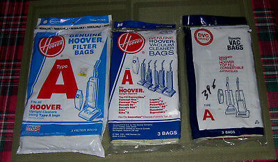 Genuine Hoover Type A Upright Vacuum Cleaner Bags 4010001A & DVC Vac  Bags