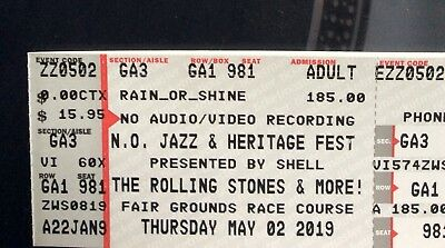 Rolling Stones May 2nd Jazz Fest!