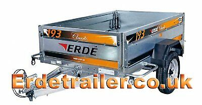 Erde daxara 198 trailer inc jockey wheel and flat cover