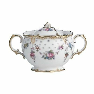 New Royal Crown Derby 2nd Quality Antoinette Covered Sugar Bowl