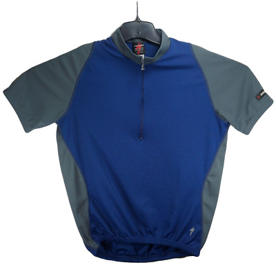 Specialized Mens Cycling Jersey 1 4 Zip Size XXL Short Sleeve Blue Gray f029e8f9f