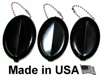 3 Oval Squeeze Coin Purses | Change Money Holder | Great for Travel Made in USA