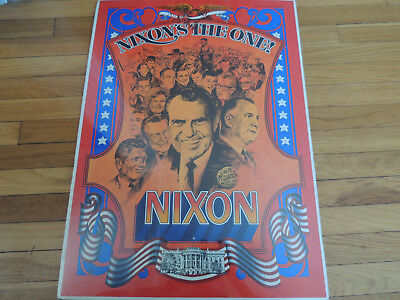 Great Real Richard Nixon Campaign Poster 1968 1 of the Best mtd. on foam board
