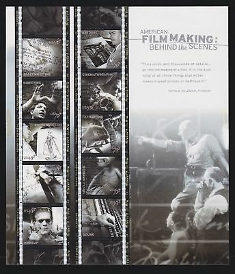 US 3772 37c American Film Making: Behind the Scenes Full Mint Sheet