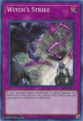 Witch's Strike NM 1st Ed YuGiOh SAST 079 Savage Strike Yu-Gi-Oh Card Secret Rare