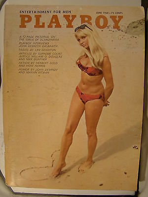 Original Playboy Magazine June 1968 Girls of Scandinavia pictorial