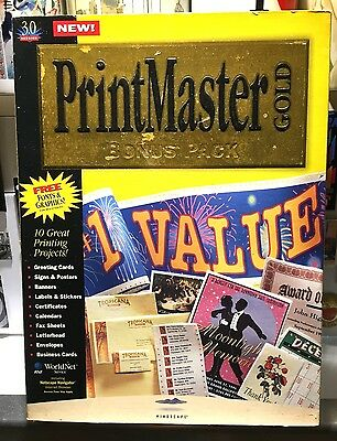 PrintMaster Gold Publishing Suite 3 PC CD print custom calendars cards projects!