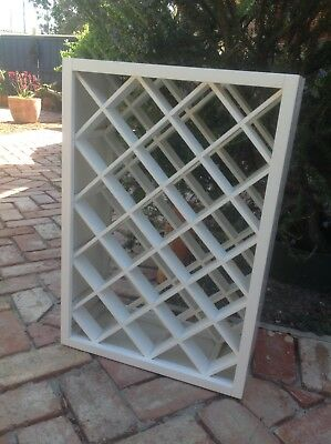 White Timber Wine Rack