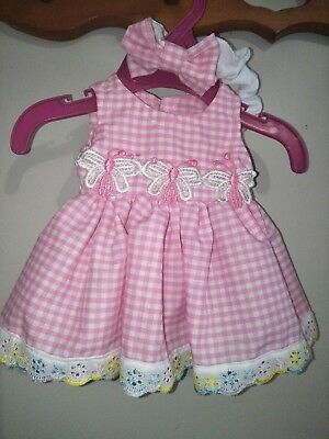 Cabbage patch Doll Dress With Matching Headband
