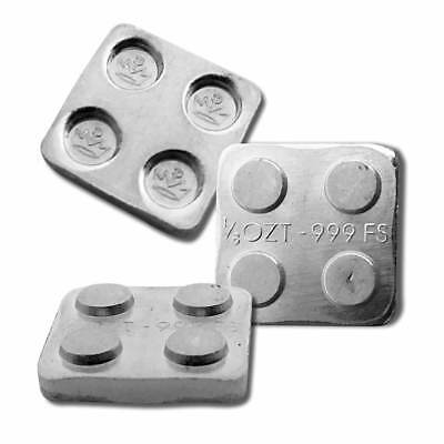 1 - 1/8 oz. 999 Fine Silver Building Block Bar (2X2) - Connect Blocks Together