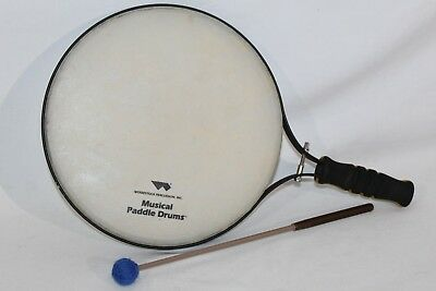 """REMO WOODSTOCK Musical Paddle Drum 12"""" w/ Drum Stick Mallet"""