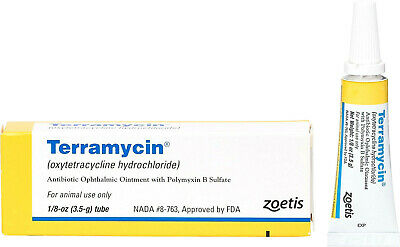 Terramycin Antibiotic Ophthalmic Ointment for cats and dogs FAST DELIVERY