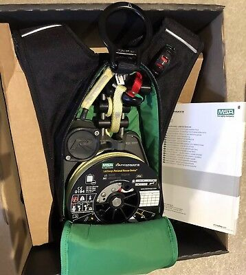 MSA LATCHWAYS R20 20m PERSONAL RESCUE DEVICE SAFETY HARNESS SIZE L