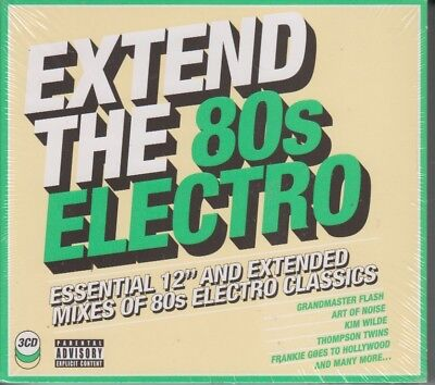 """Extend The 80's Electro 3 CD Set Essential 12"""" And Extended Mixes of 80's 2018"""