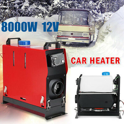 12V 8KW 8000W LCD Air Diesel Heater Chauffage Voiture Switch Single Hole Heater^