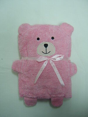 Cuddles Baby/Babies Bath/Bathtime Towel ~ Teddy Bear Design ~ PINK