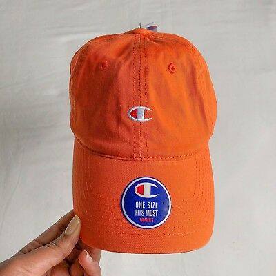 8a3bb1d4 Champion Urban Outfitters Women's Orange Washed Twill Baseball Cap Dad Hat  OSFM