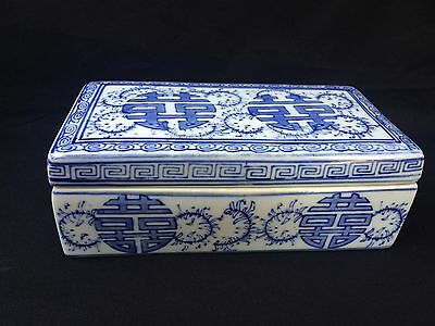 antique chinese porcelain box with 2 compartments . Beautiful decorated