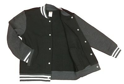 Gymboree Cotton Fleece Jacket for Boys - Black and Gray - M (7-8)