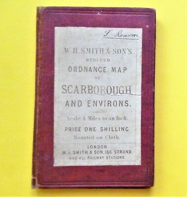 W.H.Smith Map SCARBOROUGH & WHITBY c1890