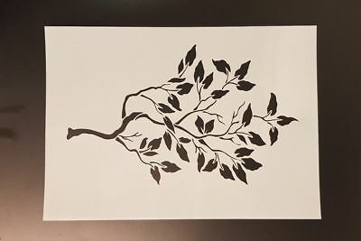Branch with leaves wall art stencil,Strong,Reusable,Recyclable