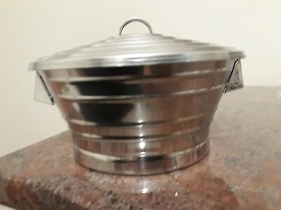 Vintage Stainless steel Dish And Lid