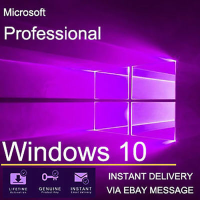 Microsoft Windows 10 Home to Windows 10 Pro Upgrade LICENCE KEY 32/64 With Guide