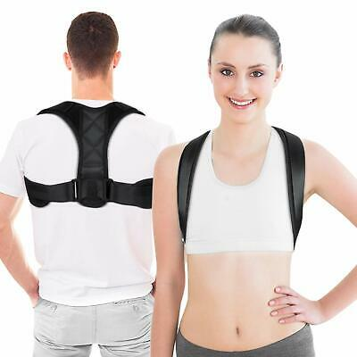 Posture Corrector Adjustable Back Support Therapy Clavicle Brace Belt Men Women